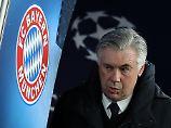 Hatte in der ersten Hälfte gute Gründe, so sauertöpfisch aus der Wäsche zu schauen: Bayern-Trainer Ancelotti