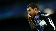 Mit Köpfchen: Sergio Ramos erlegte Neapel quasi im Alleingang.