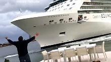 Meeresgigant vor der Terrasse: Kreuzfahrtkapitän fährt bedrohliches Wendemanöver