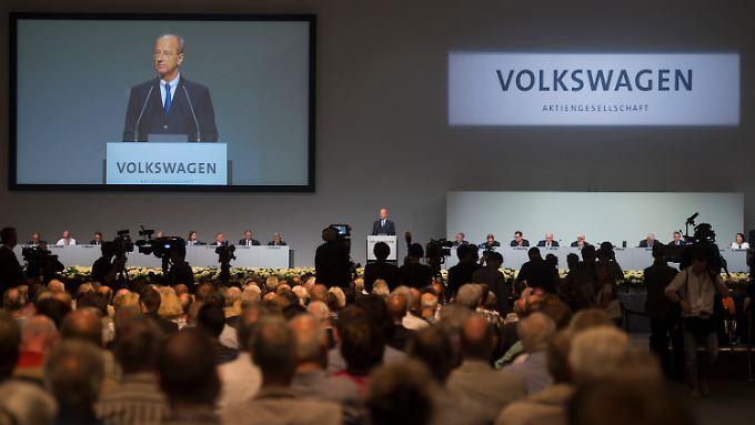 Chefaufseher Pötsch bei der VW-Hauptversammlung im vergangenen Juni.