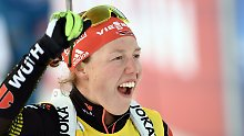 Biathlon-Star jubelt doppelt: Überfliegerin Dahlmeier holt Gesamtweltcup