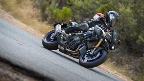 Eine wesentlich Errungenschaft der Yamaha MT-10 Sp ist das Racing-Fahrwerk.