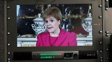 Die Fiorderung der schottischen Regierungschefin Sturgeon nach einem zweiten Referendum wurde auch im Fernsehen übertragen.