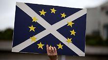 Die Schotten wollen in der EU bleiben.