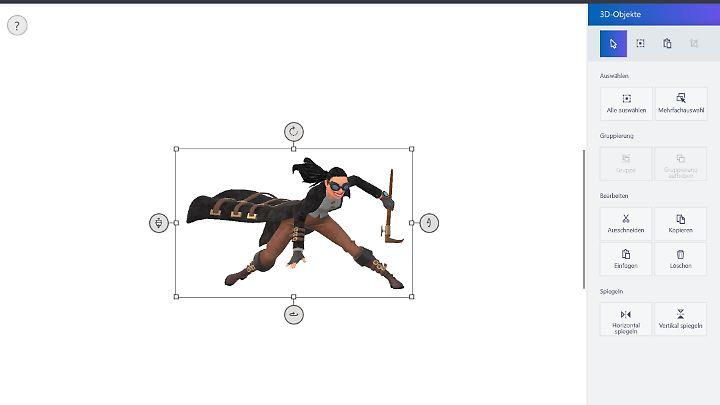 Für Paint 3D stellt Microsoft auch Grafiken zum Weiterbearbeiten bereit.