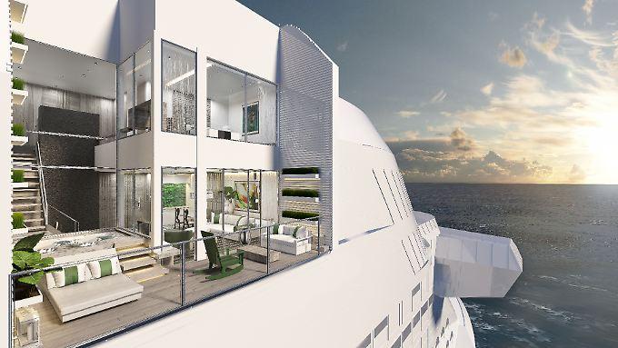 Eine Edge-Villa mit exquisitem Ausblick aufs Meer.