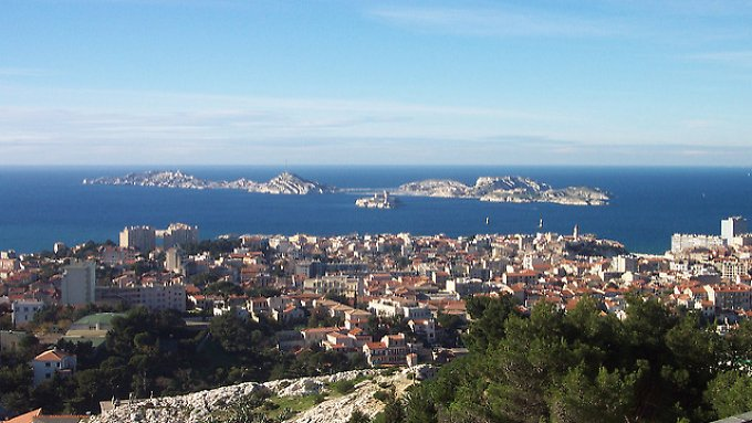 Ausblick auf Marseille.