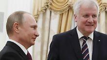 Zuletzt war Seehofer Anfang 2016 zu Gast bei Putin.