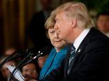 Trump trifft Merkel: Sie haben sich sehr bemüht