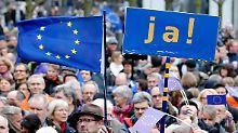 Kundgebungen in ganz Deutschland: Pro-Europäer gehen auf die Straßen
