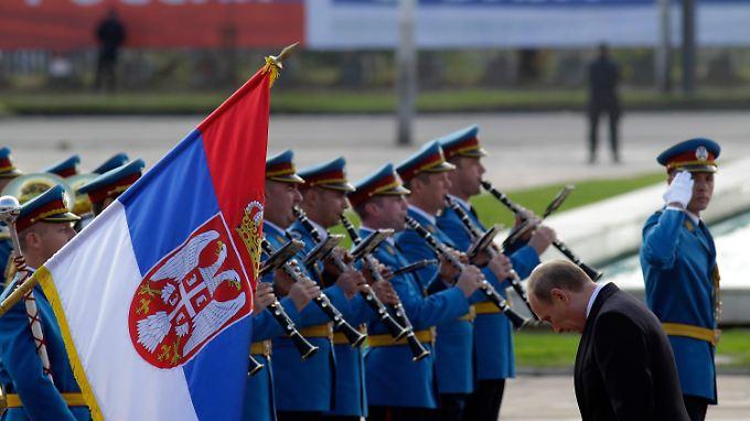 Wladimir Putin bei einem Besuch in Belgrad.