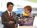 """Shinzo Abe und Angela Merkel mit Drohne: """"Das Tempo ist hoch."""""""