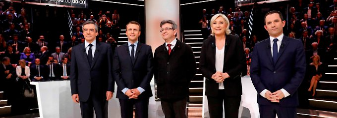 Die französischen Kandidaten duellieren sich heute im TV.