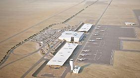 So soll der neue Flughafent in der Nähe von Eilat aussehen.