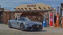 Ob man es glaubt oder nicht, aber der Mercedes-AMG GT C Roadster macht in Arizona eine wirklich gute Figur.