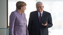 Palästinenserpräsident in Berlin: Merkel beschwört Zwei-Staaten-Lösung