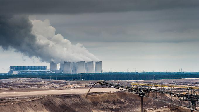 Blick auf das Braunkohlekraftwerk Jänschwalde.