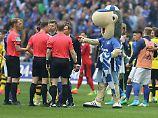 Zeigte den Schiedsrichtern die Rote Karte: Maskottchen Erwin