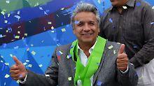 Ist nun auch offiziell Wahlsieger: Lenín Moreno