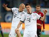 Tuto bene? Arjen Robben und Robert Lewandowski in Sinsheim.