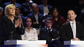 """Hitzige TV-Debatte in Frankreich: Präsidentschaftskandidaten liefern sich Schlagabtausch zum """"Frexit"""""""