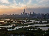 Die Skyline von Shenzhen. Früher war hier nur ein kleines Fischerdörfchen.