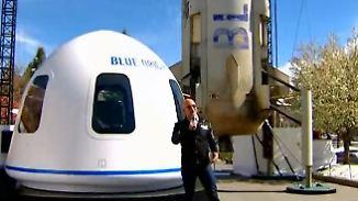 Visionen von Bezos und Musk: Milliardäre erobern die Raumfahrt