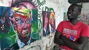 Interessant für die Kunst: Ein Kenianer setzt Trump in Szene