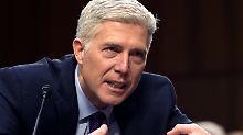 Gorsuch bei seiner Anhörung vor dem Justizausschuss des Senats.