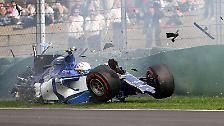 ... und wilden Crashs ...