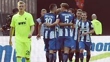 Europaträume und Abstiegshorror: Hertha erlöst sich, Augsburg fehlt Mumm