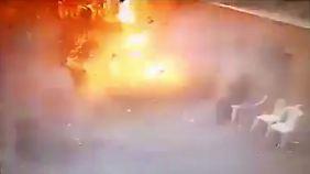 Überwachungsbilder zeigen die Explosion in Alexandria.