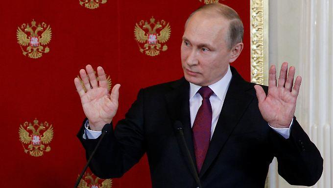 Wladimir Putin hat eigene Vorstellungen des Geschehenen.