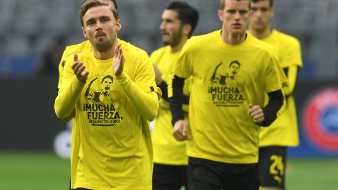 Die BVB-Profis um Kapitän Marcel Schmelzer stehen vor einer emotionalen Ausnahmesituation