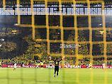 Blick auf die Südtribüne im Dortmunder Stadion.
