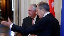 Die zwei wichtigsten Atommächte der Welt könnten nicht auf dieser Basis miteinander umgehen, kommentiert Tillerson den Stand der amerikanisch-russischen Beziehungen.