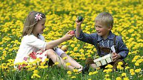 Spitze gegen Spitze und Boden gegen Boden - so wird zu Ostern das Eierpicken gespielt.