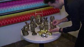 Mit echtem Gold überzogen: In Los Angeles werden Schokohasen zum Luxuserlebnis