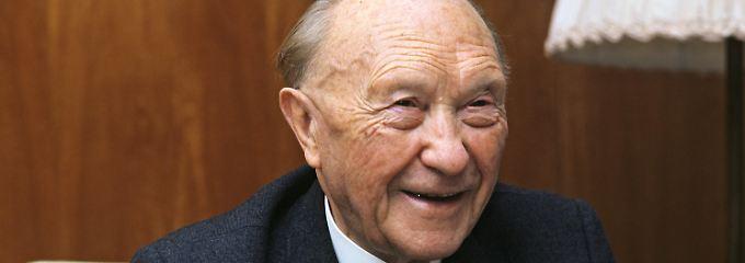 Konrad Adenauer im Jahr 1966.