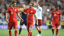 Besonders unglücklich: Für Bayern-Kapitän Philipp Lahm war es das letzte internationale Spiel seiner Karriere, die er nach dieser Saison beenden wird.