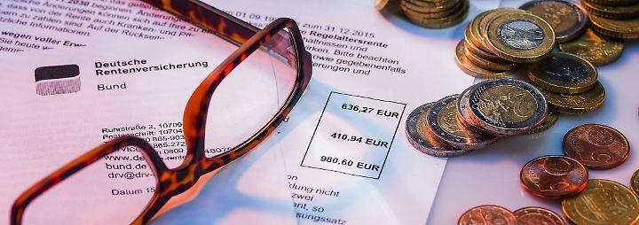 Derzeit beträgt der EM-Rente im Durchschnitt 731 Euro pro Monat.