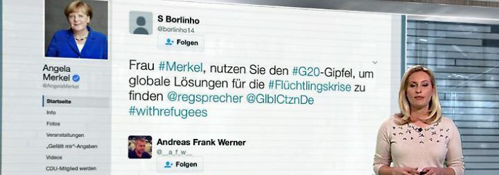 n-tv Netzreporterin: So treten Merkel, May und Le Pen in den sozialen Netzwerken auf