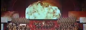Video zu Feierlichkeiten: Nordkorea inszeniert Atom-Angriff auf USA