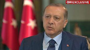 """""""Ich bin nicht unsterblich"""": Erdogan weist Vorwürfe zu Folgen des Referendums zurück"""