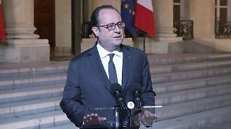 """Frankreichs Präsident Hollande: """"Sind entschlossen, diesen Terrorismus zu bekämpfen"""""""