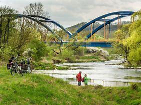 Wanderer, die den Sieben-Flüsse-Wanderweg mit Start und Ziel in Bamberg komplett absolvieren wollen, müssen 200 Kilometer zurücklegen.