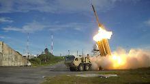So sieht es aus, wenn eine THAAD-Rakete abgefeuert wird.