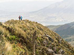 Wanderer am Fuya Fuya - der Berg ist ein gutes Akklimatisierungsziel nördlich von Quito.