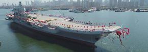 315 Meter in der Länge und 75 Meter in der Breite misst das neue Prunkstück der chinesischen Marine.