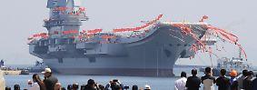 ... feiert China die Einweihung seines ersten selbst entwickelten Flugzeugträgers.